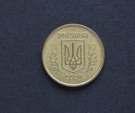 Oekraïens muntstuk UHA Stock Afbeeldingen