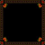 Oekraïens nationaal bloemenornament op donkere achtergrond Stock Afbeelding