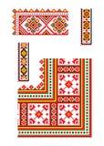 Oekraïens ornament vectordeel 6 Royalty-vrije Stock Foto's