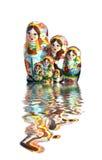 Oekraïense babuschkapoppen Royalty-vrije Stock Afbeeldingen