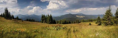 Oekraïense bergen Royalty-vrije Stock Afbeeldingen