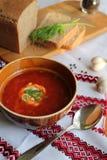 Oekraïense borscht stock foto