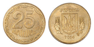 25 Oekraïense centen Royalty-vrije Stock Foto
