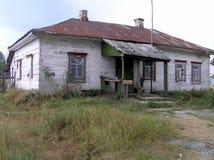 Oekraïense die hut van riet wordt gemaakt Royalty-vrije Stock Afbeeldingen