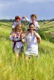 Oekraïense familie Royalty-vrije Stock Afbeelding
