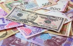 Oekraïense geldhryvnia De nationale valuta Royalty-vrije Stock Fotografie