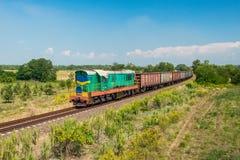 Oekraïense goederentrein Royalty-vrije Stock Afbeelding