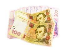 Oekraïense hryvnia dichte omhooggaand Royalty-vrije Stock Foto