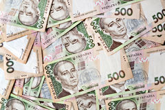 500 Oekraïense hryvnia stevige achtergrond Royalty-vrije Stock Foto