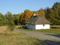 Oekraïense hut Stock Afbeeldingen