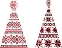 Oekraïense Kerstbomen stock foto