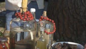 Oekraïense lijst met voedsel stock footage