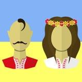 Oekraïense man en vrouw Royalty-vrije Stock Afbeeldingen