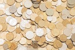 Oekraïense muntstukkenachtergrond Stock Fotografie