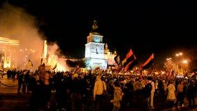 Oekraïense Opstandige Leger (UPA) vergadering, Kiew, de Oekraïne, stock footage