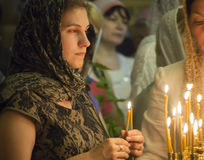 Oekraïense Orthodox viert Drievuldigheid Royalty-vrije Stock Foto