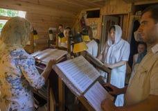 Oekraïense Orthodox viert Drievuldigheid Royalty-vrije Stock Foto's