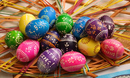 Oekraïense pysanka Pasen Stock Afbeeldingen