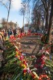 Oekraïense revolutie, Euromaidan na een aanval door overheid F Royalty-vrije Stock Fotografie