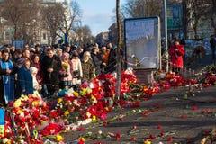 Oekraïense revolutie, Euromaidan na een aanval door overheid F Royalty-vrije Stock Foto's