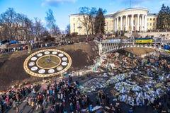 Oekraïense revolutie, Euromaidan na een aanval door overheid F Royalty-vrije Stock Afbeeldingen
