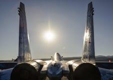 Oekraïense Sukhoi su-27 Flanker vliegtuigen Stock Foto