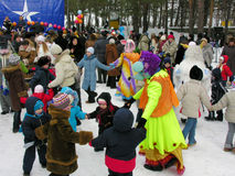 Oekraïense vakantie Maslenitsa (pannekoekweek) Royalty-vrije Stock Foto