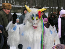 Oekraïense vakantie Maslenitsa (pannekoekweek) Stock Foto