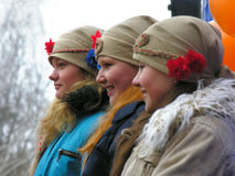Oekraïense vakantie Maslenitsa (pannekoekweek) Stock Fotografie