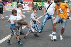 Oekraïense ventilators in Euro 2012 Royalty-vrije Stock Foto's