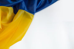 Oekraïense vlag Stock Afbeelding