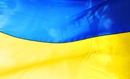 Oekraïense vlag Stock Foto's