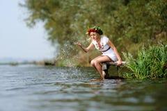 Oekraïense vrouw Stock Foto