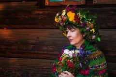 Oekraïense vrouw Stock Afbeelding