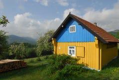 Oekraïens huis in het dorp. Royalty-vrije Stock Afbeelding