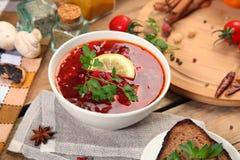 Oekraïense borscht Stock Afbeeldingen