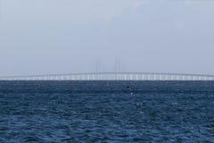 Oeresundsbroen between Denmark and Sweden Stock Images