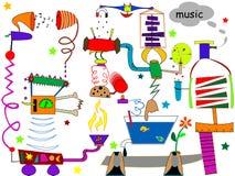 oerhörd maskinmusik Arkivfoton