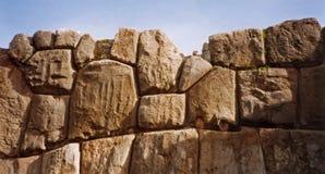 oerhörd peru för cuscoinca vägg Arkivbild