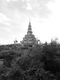 Oerhörd planlagd tempel i Thailand Royaltyfri Foto