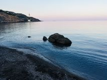 Oerhörd stillhet på havet royaltyfri fotografi