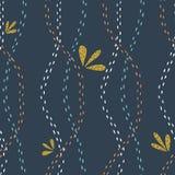 Oerwoud bloemen naadloos patroon Vector bosdruk Stock Fotografie