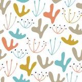 Oerwoud bloemen naadloos patroon Vector bosdruk Royalty-vrije Stock Afbeelding
