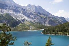 Oeschinensee Alpes suisses, Kandersteg, Bernese Oberland, l'Europe Carpathien, Ukraine, l'Europe photographie stock libre de droits
