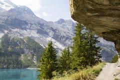 Oeschinensee Alpes suisses, Kandersteg, Bernese Oberland, l'Europe Carpathien, Ukraine, l'Europe photographie stock