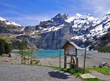 Oeschinensee. Beautiful lake in Switzerland Stock Image