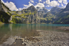 Oeschinensee from Kandersteg. Switzerland Royalty Free Stock Photos