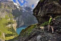 Oeschinensee, Kandersteg Szwajcaria fotografia stock