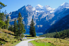Oeschinensee Oeschinen lake Royalty Free Stock Images