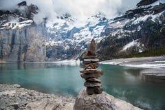 Oeschinensee - Schweiz Arkivfoton